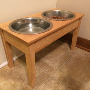 Dog Dish Table