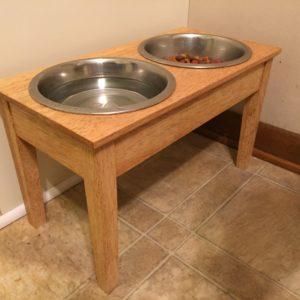 Dog Dish Table